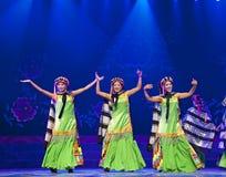 Chinese Tibetan dancers Stock Images