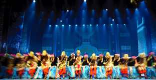 Chinese Tibetan ethnic dance Royalty Free Stock Photo
