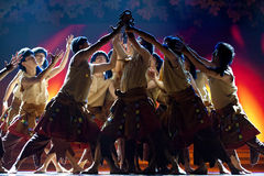 Chinese Tibetan ethnic dance Royalty Free Stock Photography