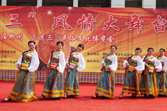 Chinese Tibetan ethnic dance Stock Image