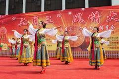 Chinese Tibetan ethnic dance Stock Photo