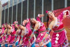 Chinese Tibetan ethnic dance Royalty Free Stock Images