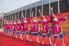 Chinese Tibetan ethnic dance royalty free stock image