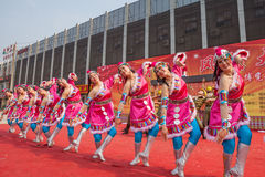 Chinese Tibetan ethnic dance royalty free stock photography