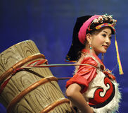 Chinese Tibetan ethnic dancer Stock Photography