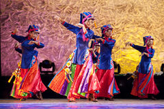 Chinese Tibetan ethnic dancers Stock Photography