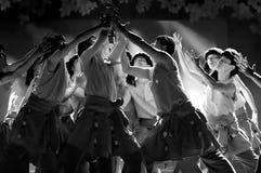 Chinese Tibetan ethnic dancers Royalty Free Stock Photo