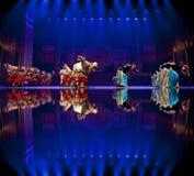 Chinese Tibetan ethnic dancers Stock Photos