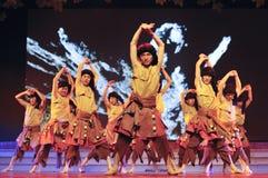 Chinese Tibetan ethnic dancers Royalty Free Stock Photos
