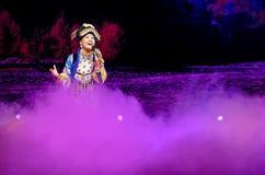 Chinese Tibetan ethnic folk singer Royalty Free Stock Photos