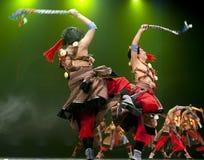 Chinese tibetan national dancers Royalty Free Stock Image