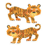 Chinese tiger retro Royalty Free Stock Photos