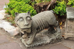 Chinese tiger statue Royalty Free Stock Photo