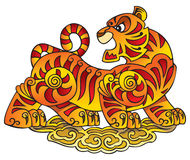 Chinese Tiger, symbol of the year Stock Photos