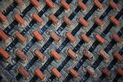 Chinese tiled roof with bricks Royalty Free Stock Photo
