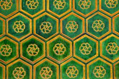 Chinese Tiles. Green and orange chinese tiles Stock Images