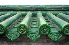 Chinese Tiles Detail, Temple of Heaven, Beijing Stock Photo