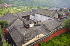 Chinese tiles roofs Stock Photo