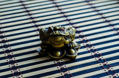 Chinese toad on bamboo mat Royalty Free Stock Image