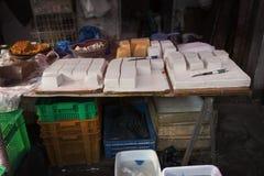 Chinese tofu store Stock Photography