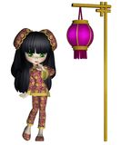 Chinese toon girl 2 Royalty Free Stock Images