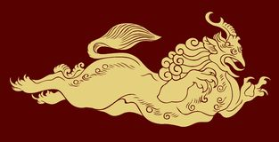 Chinese Totem Pattern. Vector of Ancient Chinese Traditional Totem Pattern Royalty Free Stock Image