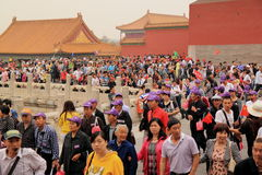 Chinese Tourist Forbidden city China Royalty Free Stock Photo