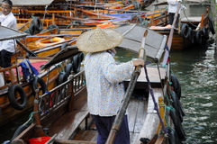 Chinese tourists boats Tongli Town Stock Photography