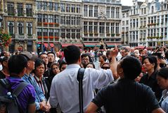 Chinese tourists in Brussels, Europe Stock Photography