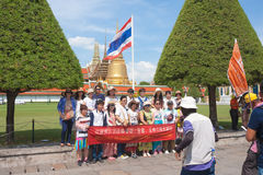 Chinese tourists at Grand palace stock photography