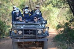 Chinese tourists on Safari royalty free stock photography