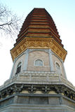 Chinese Tower in Buddhist Temple Stock Photos