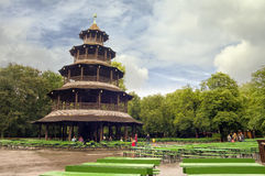 Chinese Tower in English garden Stock Photography