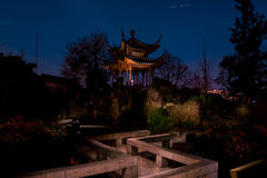 Chinese Tower Garden Building Temple Stuttgart Night Time Glowin Stock Photo