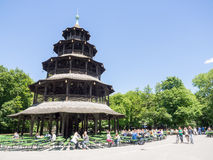 Chinese tower munich Royalty Free Stock Image