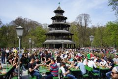 Chinese tower- munich - germany stock photos