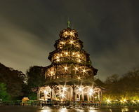 Chinese tower in Munich, Germany Stock Image