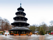 The Chinese Tower  in Munich, Germany Stock Photos