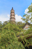 Chinese Tower. In Shunfengshan Garden in Shunde Royalty Free Stock Photography