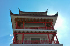 Chinese tower at Supanburi. This centre point of travel middle Thailand Royalty Free Stock Image