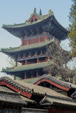 Chinese Tower. On the territory of the temple in Changzhou Stock Photos