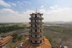Chinese tower at Tiger Cave Temple Wat Tham Sua, Kanchanaburi Royalty Free Stock Photo
