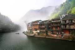 Chinese town. This is phoenix town in hunan stock image