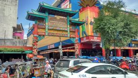 Chinese Town Malioboro Street. In Jogjakarta Indonesia Royalty Free Stock Photo