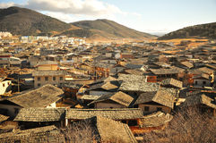 Chinese town mountain View Stock Photo