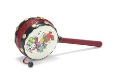 Chinese Toy Drum Stock Photo