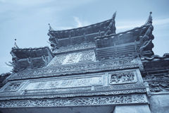 Chinese tradition decorated gatehouse Royalty Free Stock Images