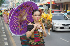 Chinese Tradition at Hat Yai Loyalty Parade Stock Images