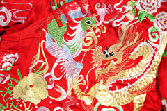 Chinese tradition marriage formal clothes Stock Photography