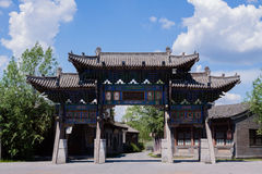 Chinese traditional arch gate Royalty Free Stock Photo